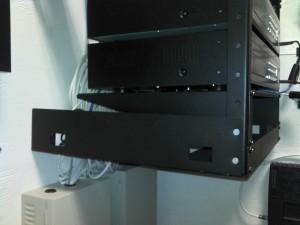 DVR wall rack